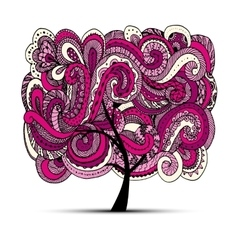 Abstract wavy tree for your design vector image
