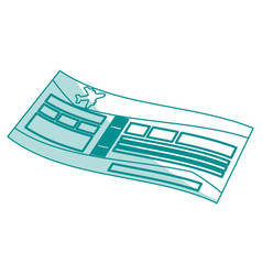 airplane ticket design vector image vector image