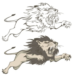 invincible lion vector image vector image