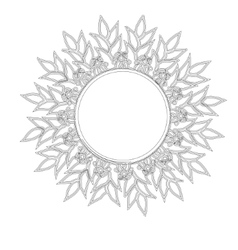 Vintage round frame sun vector image