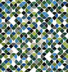 Abstract mosaic retro seamless pattern in green vector image