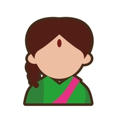 avatar indian woman design vector image