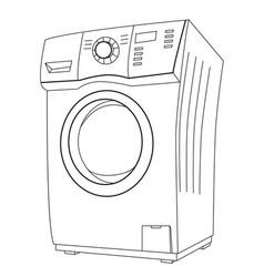 cartoon image of washing machine vector image vector image