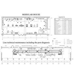 drawing of vehicle fleet format vector image