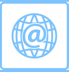 global e-mail icon vector image