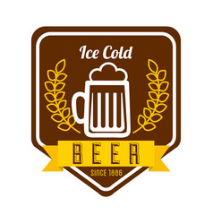 ice cold beer poster vector image vector image