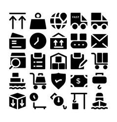 Logistics delivery Icons 8 vector image