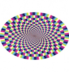 optical illusion vector image