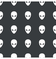 Straight black alien pattern vector image vector image