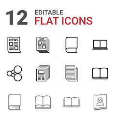12 publish icons vector