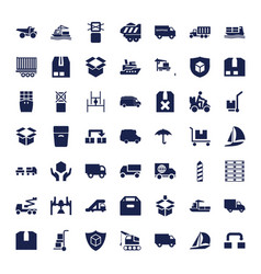 49 shipping icons vector