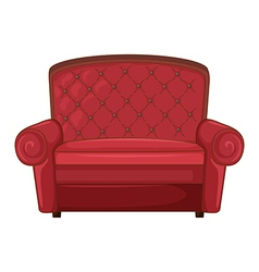 A cushion chair vector