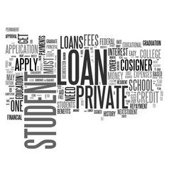 a simple guide on private student loans text word vector image