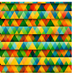 abstract colorful triangles vector image