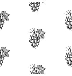 abstract sketch berry seamless pattern vector image
