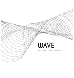 abstract waves from lines blend design vector image