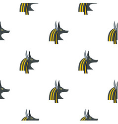 Anubis head pattern seamless vector