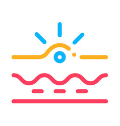 Appearance acne icon outline vector