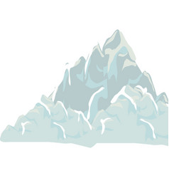 Big mountain isolated icon vector
