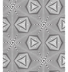 Black and White Op Art Design Seamless Pattern vector image
