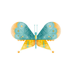 brightly colored butterfly with two pairs of vector image