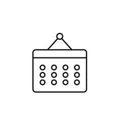 calendar event outline icon signs and symbols can vector image