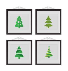 christmas set of frames vector image