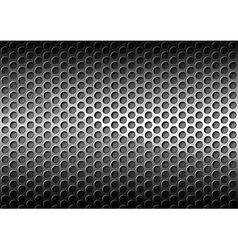 Chrome Perforated Metal Grid vector