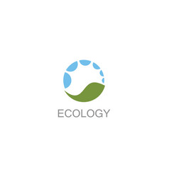 circle ecology logo vector image