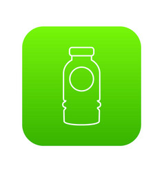 cosmetic bottle icon green vector image
