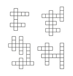 crossword puzzle flat icons set crosswords vector image