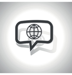 Curved globe message icon vector
