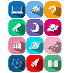 Different icons of science and technology vector