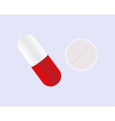 Drugs and Pills on blue background vector image vector image