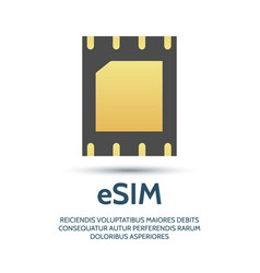 embedded sim icon vector image