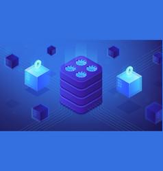 Etherium platform concept vector