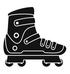 extreme sport inline skates icon simple style vector image