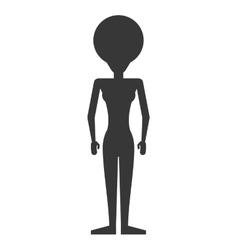 Faceless woman icon vector