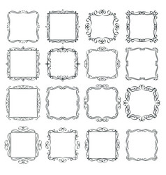 Flourishes vintage frames set vector