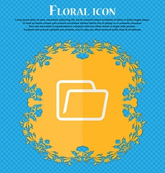 Folder Floral flat design on a blue abstract vector image