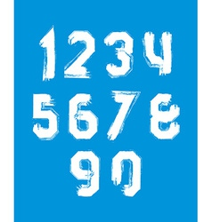 Freak white graffiti digits set of unusual numbers vector