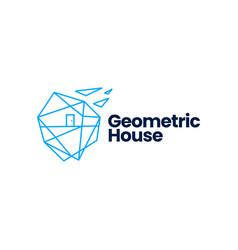 Geometric house home polygonal logo icon vector