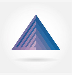 gradient triangle icon logo vector image