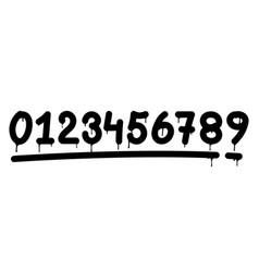 Graffiti tag numbers set vector