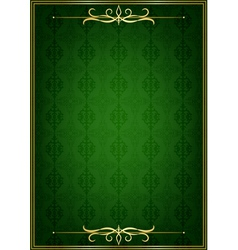 Green background and golden frame vector