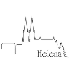 helena city one line drawing vector image