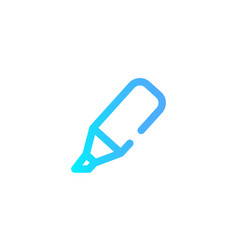highlighter icon sign symbol vector image