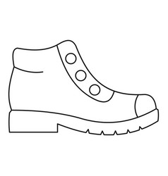 Hiking boots icon thin line vector