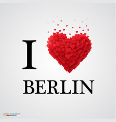 i love berlin heart sign vector image