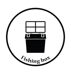 Icon of Fishing opened box vector image